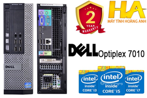 Cấu hình 08: Dell Optiplex 7010 sff - Co-i7 3770, Dram3 8G, SSD 120G + HDD 500G